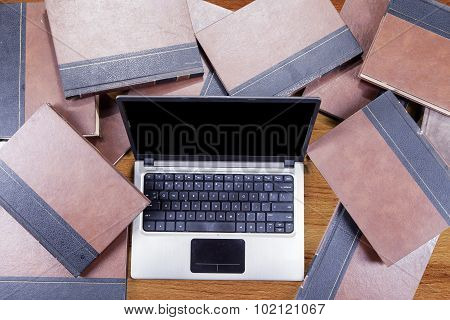 Laptop Computer With Book
