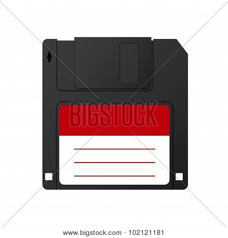 Vector modern diskette on white background.