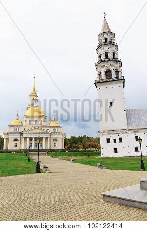 Russia. Spaso-preobrazhensky Cathedral And Belfry In Nevyansk