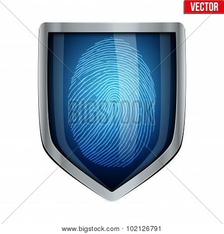 Fingerprint scanner inside shield