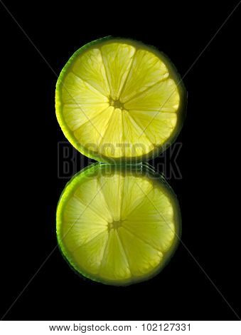 Lime On Black Mirror