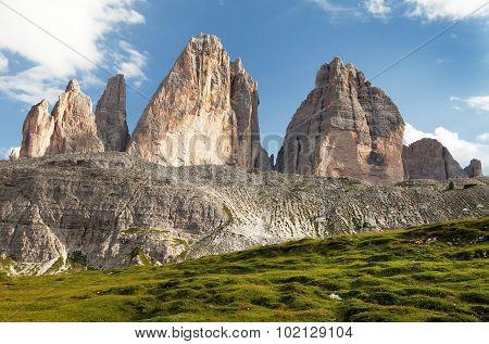 Drei Zinnen Or Tre Cime Di Lavaredo, Italien Alps