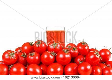 Tomato Juice  Isolated On White Background