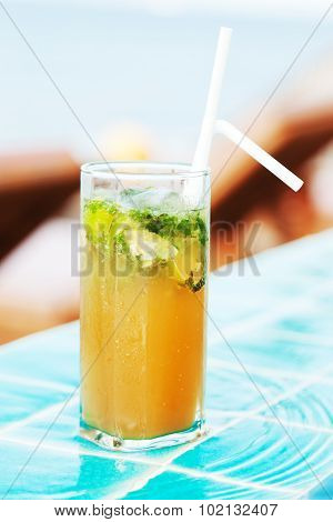 Mojito Cocktail At The Pool