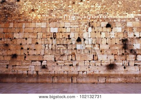 Wailing Wall Empty In Jerusalem