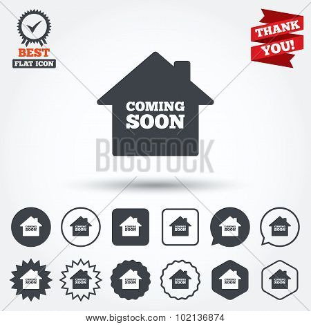 Homepage coming soon icon.