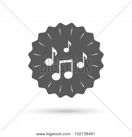 Music notes sign icon. Musical symbol.
