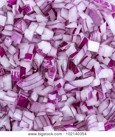 Diced Red Onions (background Image)
