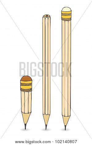Vector pencils set