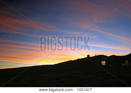 Mirror Telescope In Sunrise