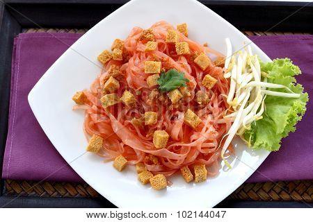 Fried Noodles Vegetarian Food.