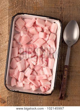 Rustic Pork Fat Cube