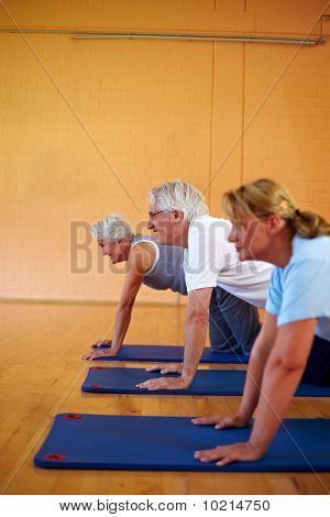 Pushups In Gym