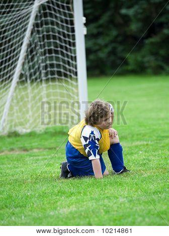 Soccer Goalie Kneeling