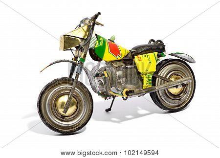 Scale Model Of A Retro Motorbike