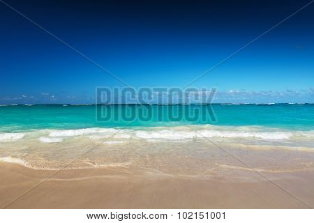 Beautiful tropical beach with clear sand and water