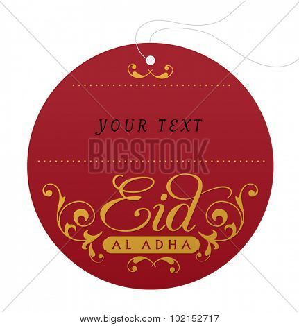 Empty tag design for Eid al adha festive gift. Vector design.