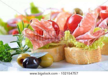 Salami appetizers