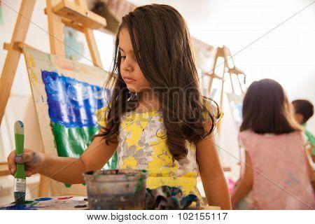 Little Artist In Art Class