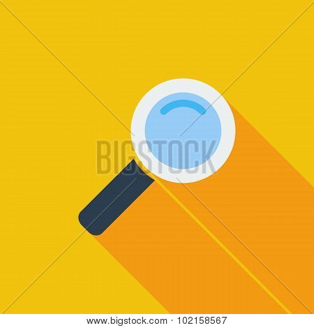 Search single flat icon.
