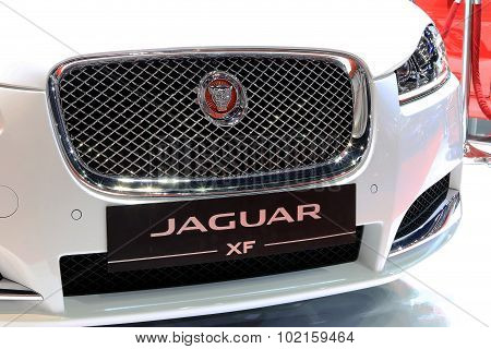 Front Grill Of White Jaguar Series Xf