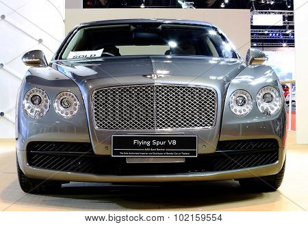 Silver Bentley Series Flying V8 Luxury  Car