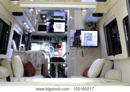Luxury Interior Decoration In Mercedes Benz Mobile Home Car