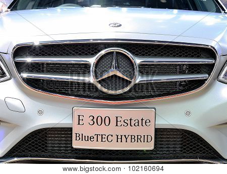 Close Up Logo On Bumper Of Mercedes Benz