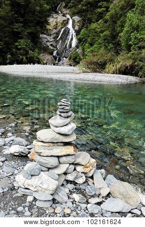 Fantail Falls, West Coast, New Zealand