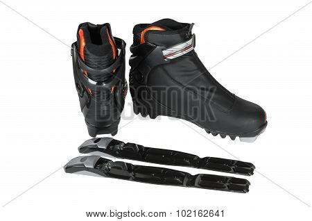 Boots With Bindings For Cross-country Skiing