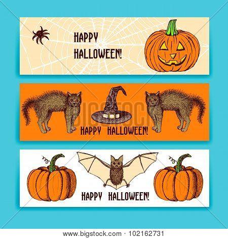 Sketch Halloween Banners