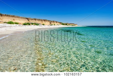 Coastline With Crystal Clear Water