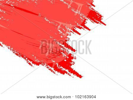 White Background And Red Paint