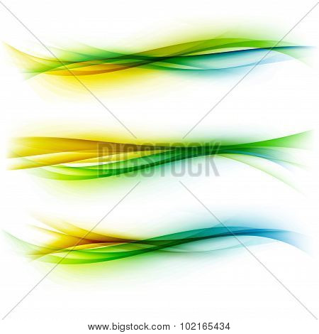 Abstract Bright Modern Swoosh Futuristic Wave