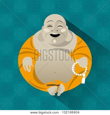 Feng Shui Talisman. Hotei. Happy Buddha.