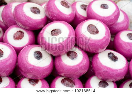 Pink Marzipan In A Fairground Stall