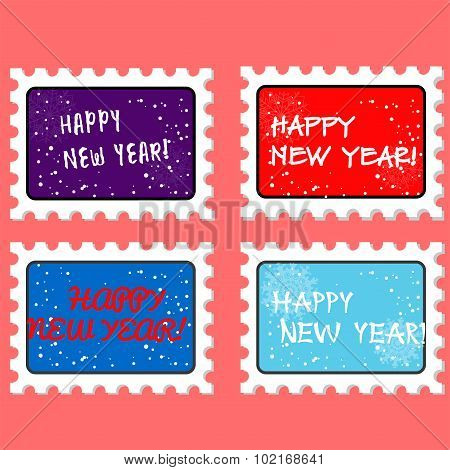 vector new year stamp and postmark