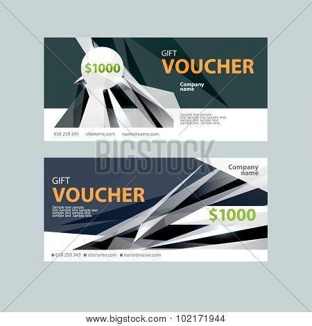 Template gift voucher. Modern design.