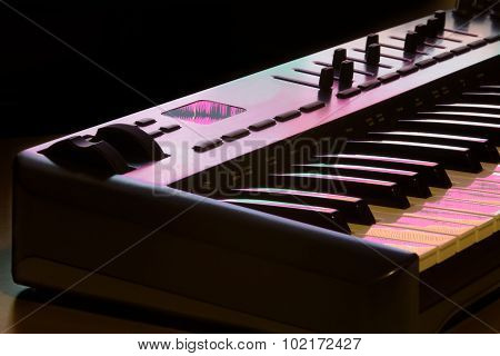 Midi Keyboard Detail 2