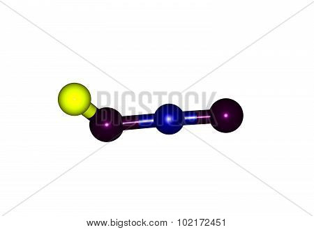 Metaboric acid is the name for a family of inorganic compounds formed by the dehydration of boric acid. These are colourless solids with the empirical formula HBO2. 3d illustration