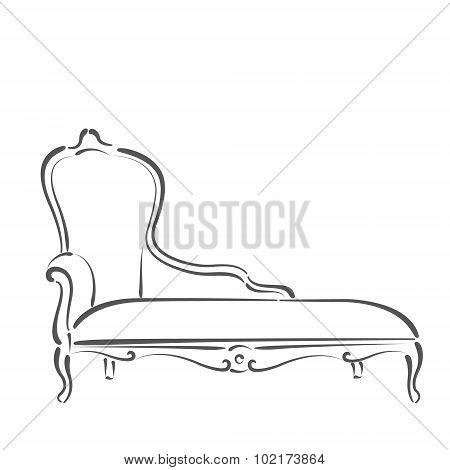 Sketched sofa.