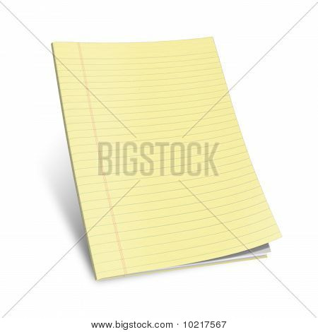 notebook with yellow leaves
