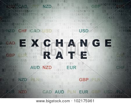 Currency concept: Exchange Rate on Digital Paper background