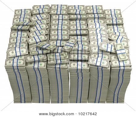 Treasury. Large Bundle Of Us Dollars