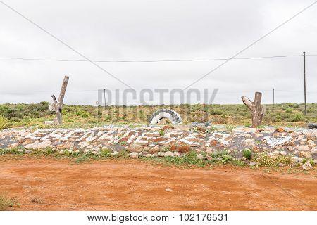 Name Of Ebenhaeser With White Painted Stones