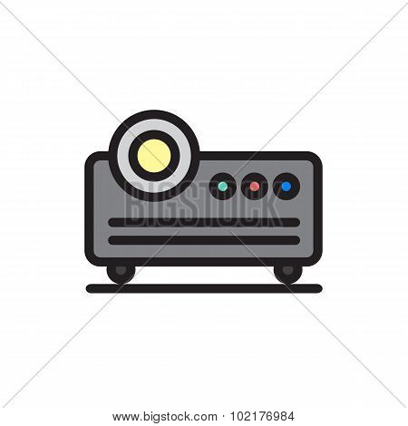 Projector Icon In Modern And Cartoon Style