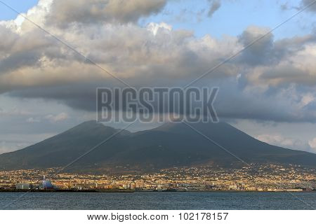 Mount Vesuvius And The Gulf Of Naples, Italy
