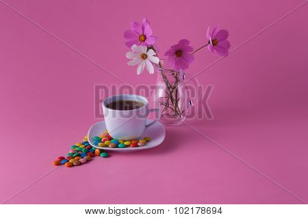 Tea Cup With Sweet Dragees