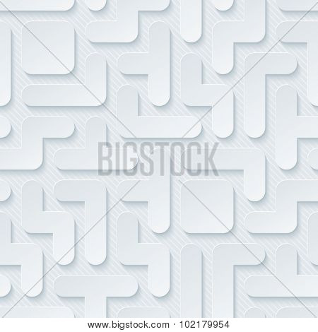 Tetris wallpaper. 3d seamless background. Vector EPS10.