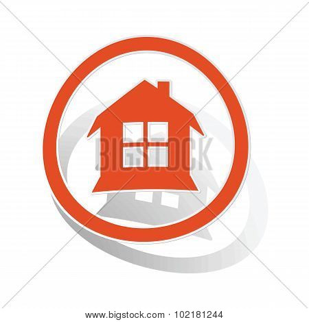 House sign sticker, orange